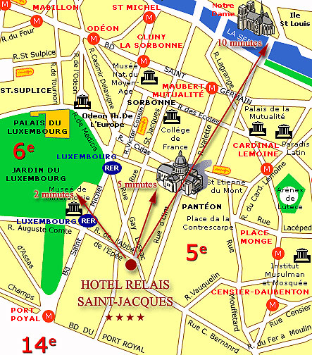 Hotel St Jacques Paris France